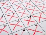 X-d out Calendar
