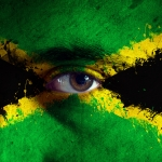 Jamaican Flag on face
